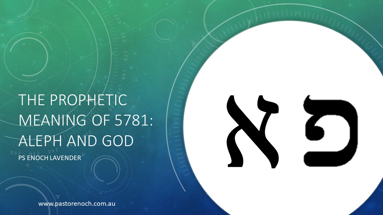 Prophetic Meaning of 5781 - Aleph and God, Man and End Times